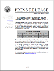 SBSC Issues 2021 Shelter Court Schedule