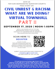 SBSC Virtual Townhall On Civil Unrest And Racism Part II