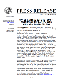 SBSC Welcomes First Latina Judge Candice Garcia-Rodrigo